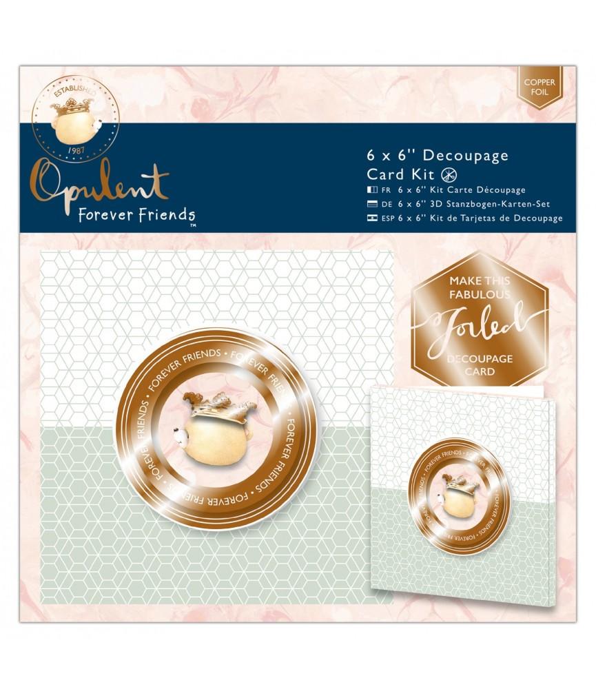 """Kit de tarjetas de decoupage opulent 6x 6"""""""