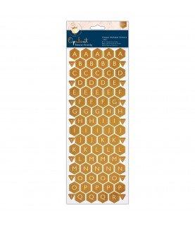 Comprar Pack 2 hojas de pegatinas alfabeticas opulent de Conideade