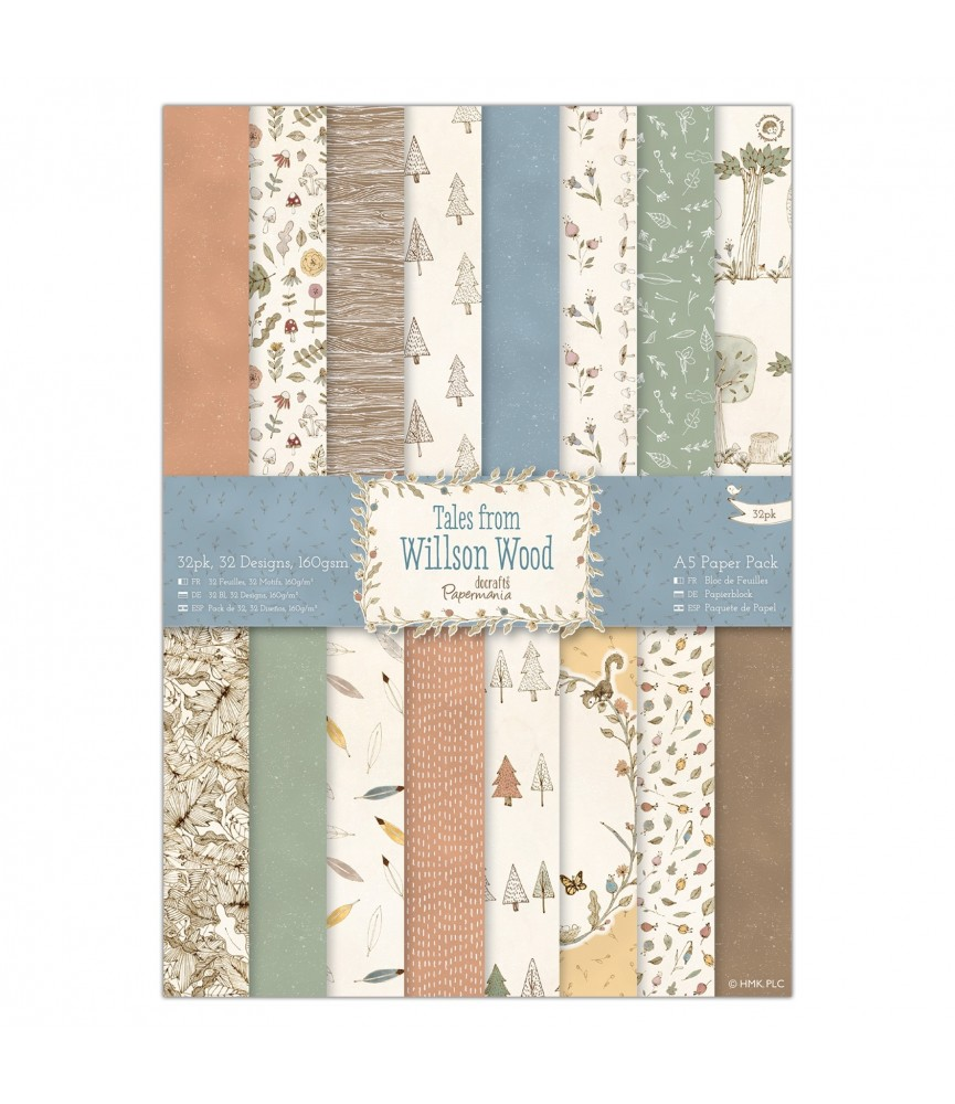 Pack 32 hojas A5 mod mod Willson Wood