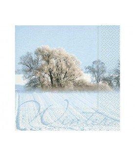 Servilleta paisaje Invierno 33x33cm