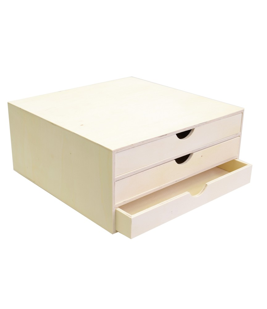 Cajonera 3 cajones para papel scrap