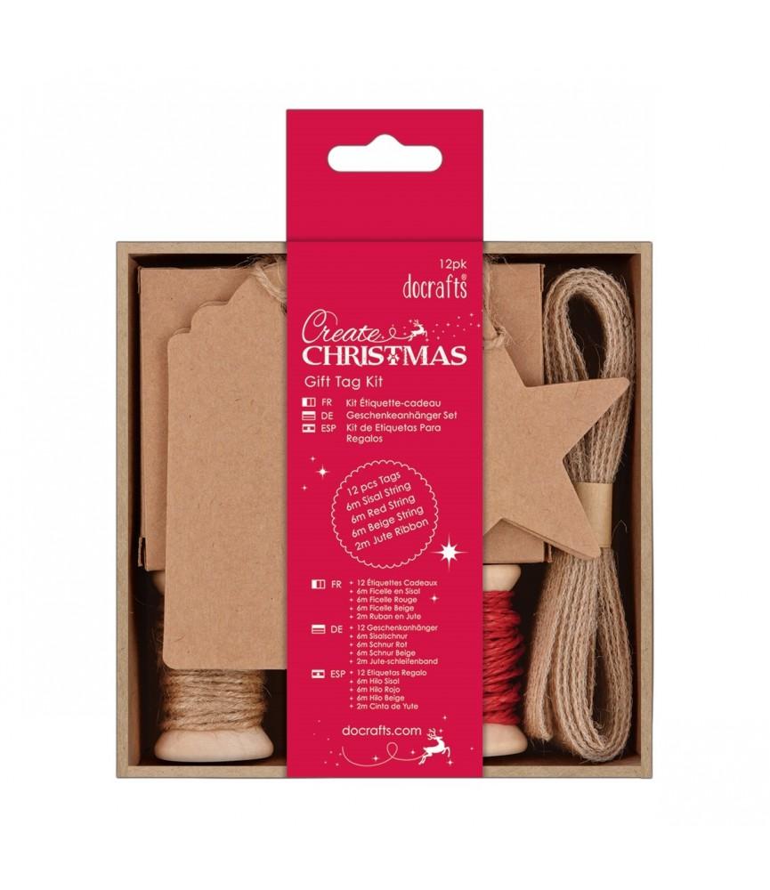 Pack de etiquetas para regalo craft