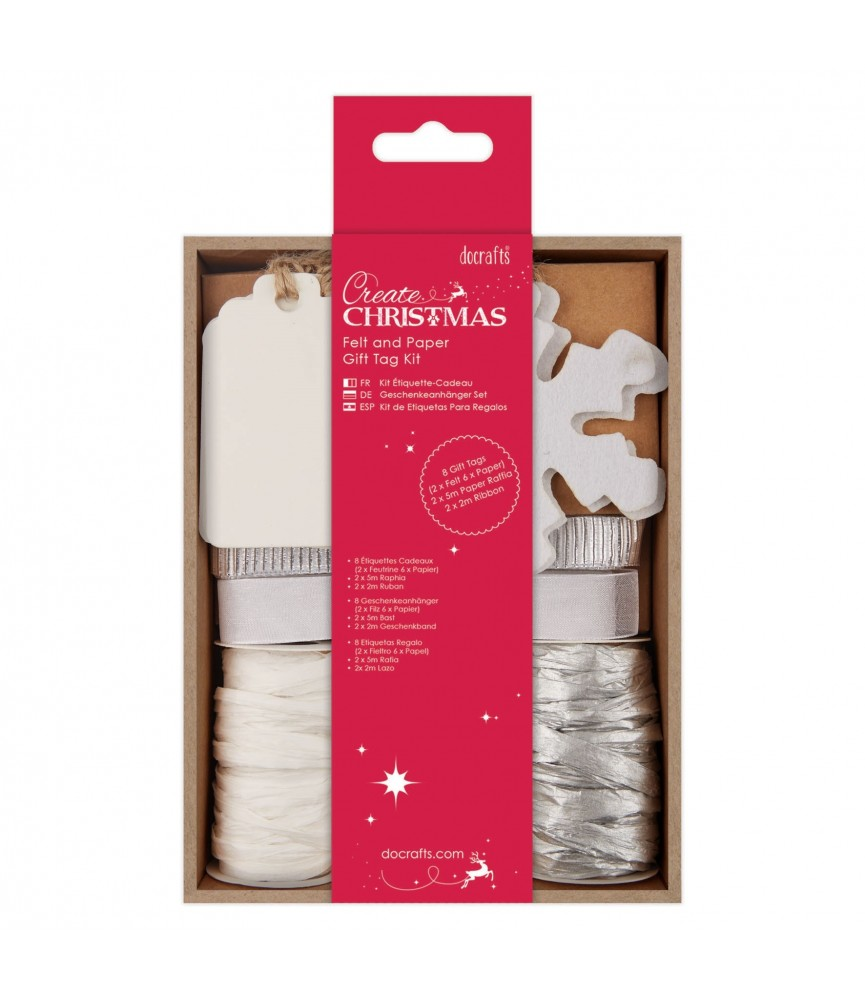 Pack de etiquetas para regalo plata