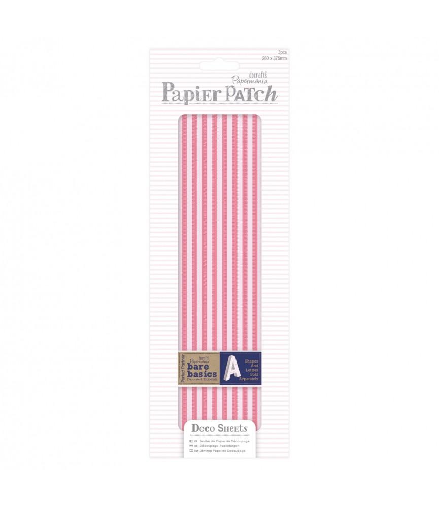 Pack 3 hojas para decorar – Red stripes