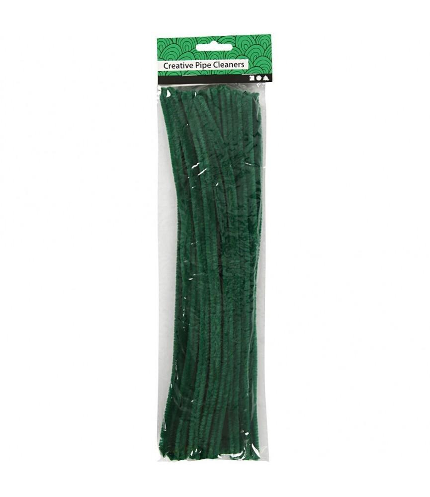 Pack de 25 Limpia pipas de 9 mm verde