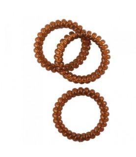 Pack 3 coleteros espiral plastico marron