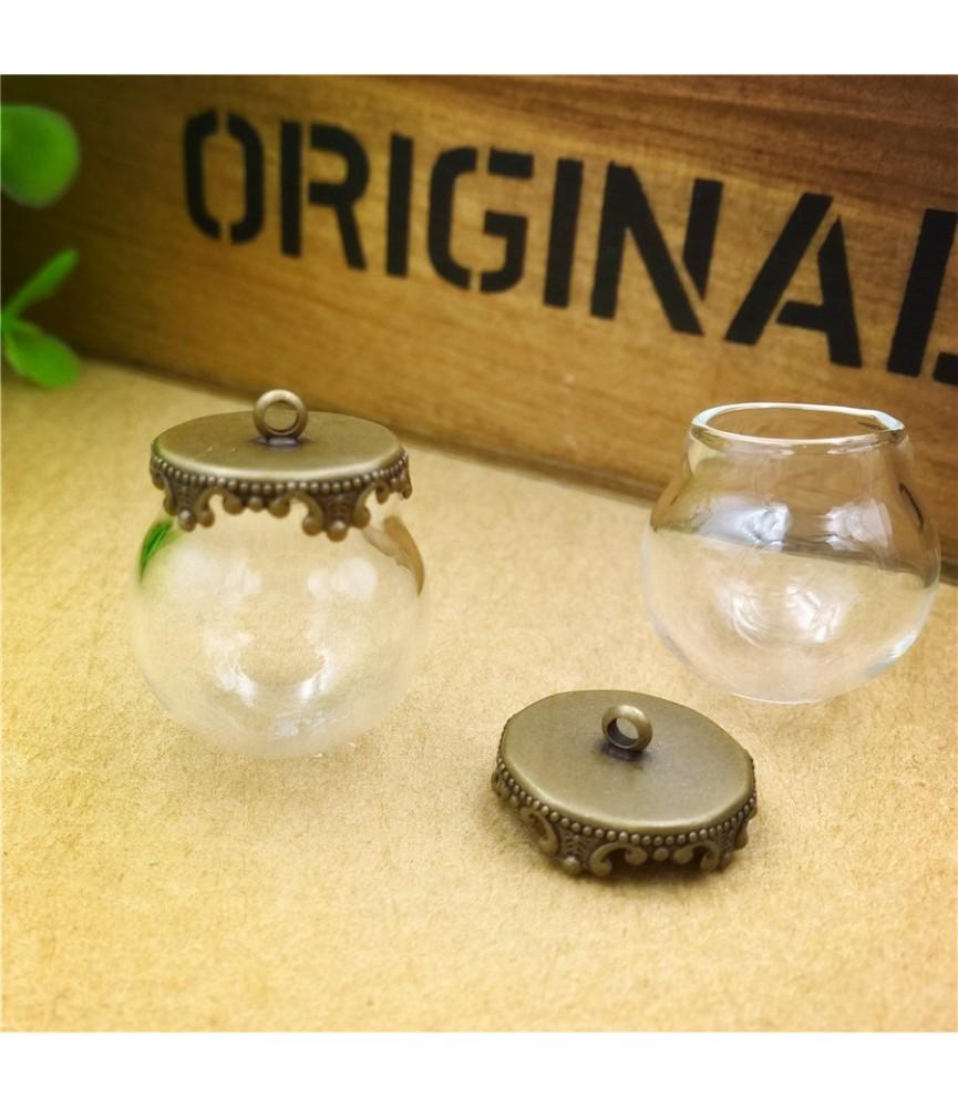 Set de colgante con globo de cristal 20mm