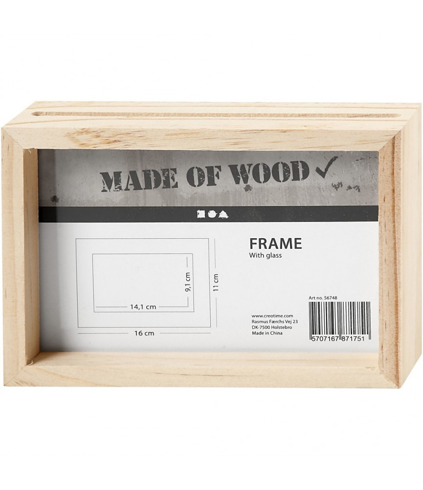 Marco de madera doble de 16 x11 x 4cm
