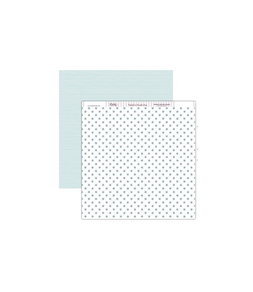 Papel scrap estrellas azules 30x30