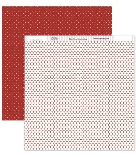 Imagén: Papel scrap estrellas  rojas 30x30
