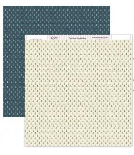 Comprar Papel scrap anclas azules 30x30 de Conideade