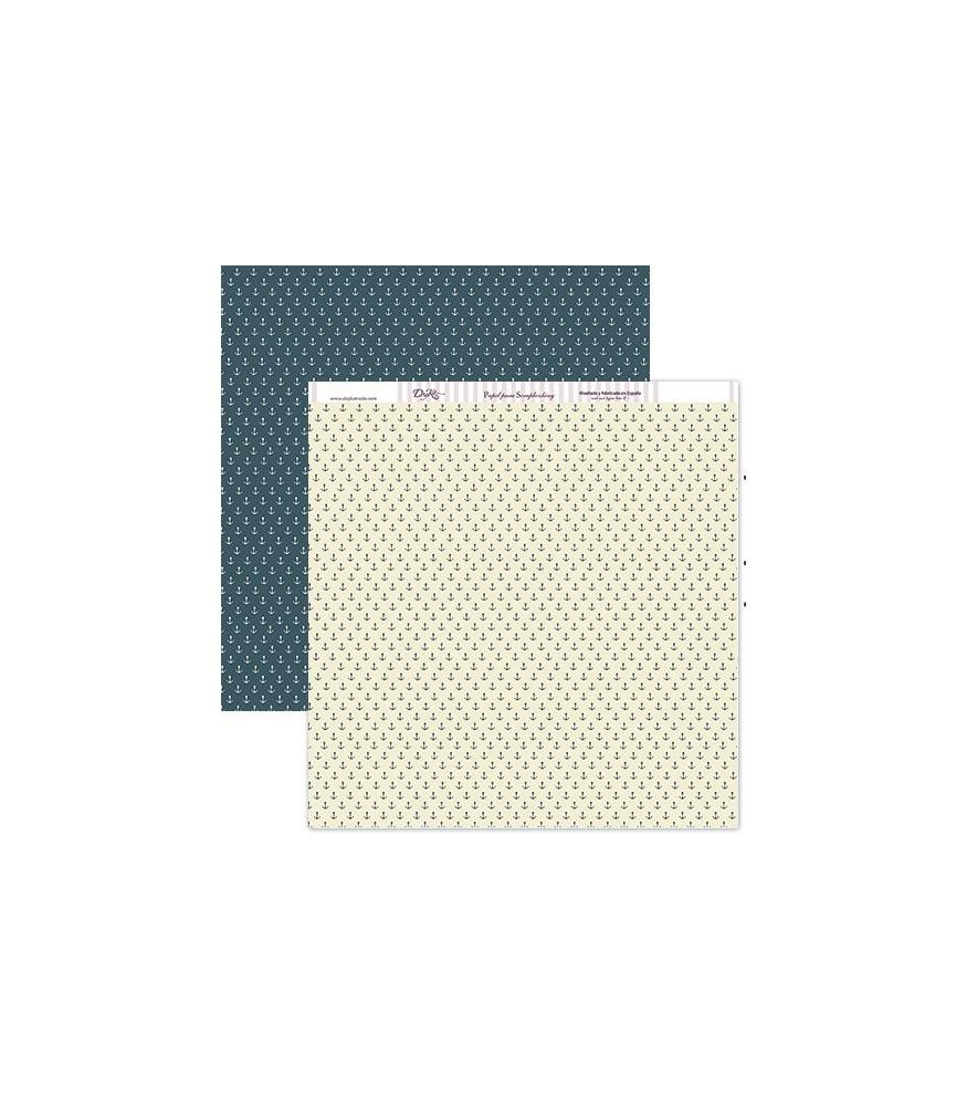 Papel scrap anclas azules 30x30