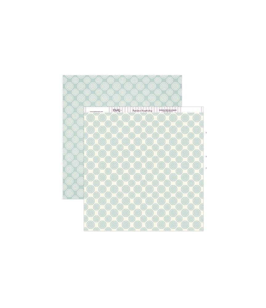 Papel scrap circulos azules 30x30