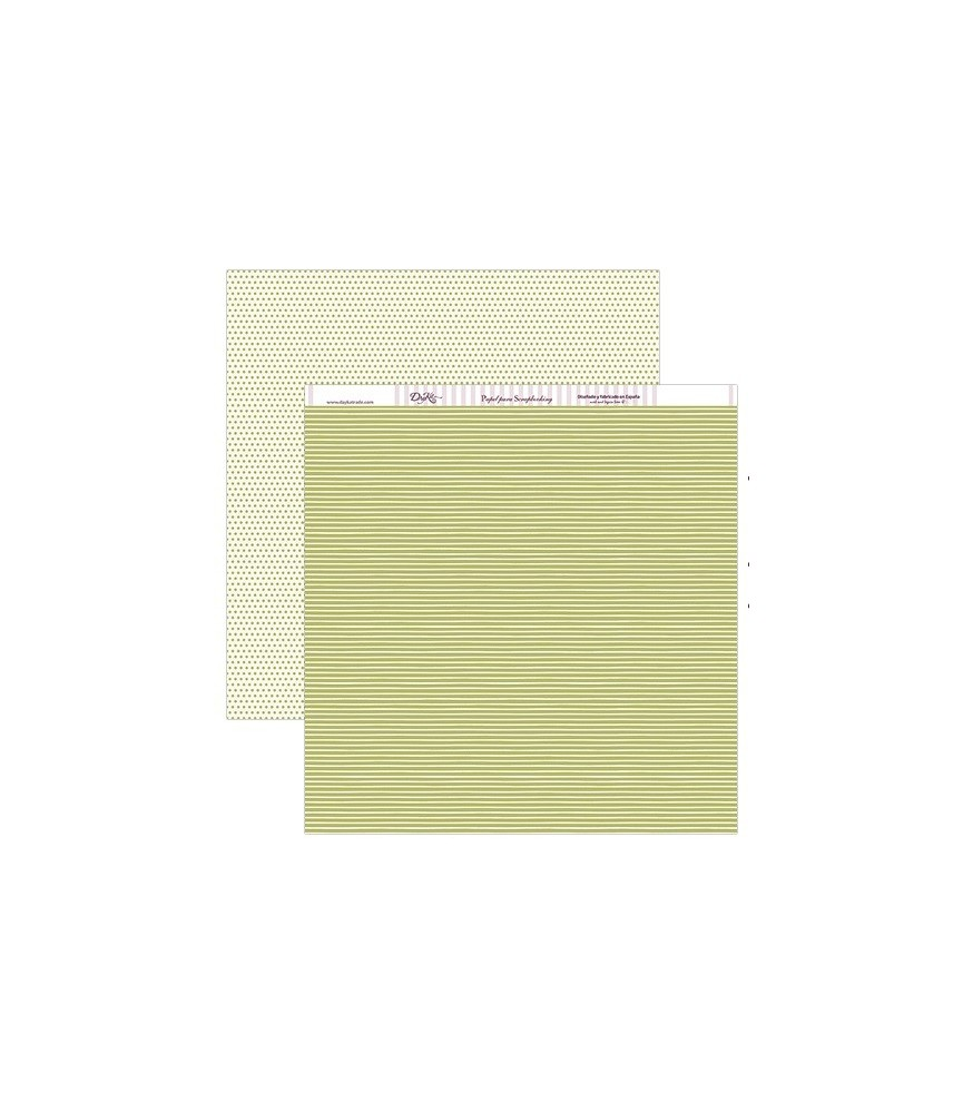 Papel scrap rayas verdes 30x30