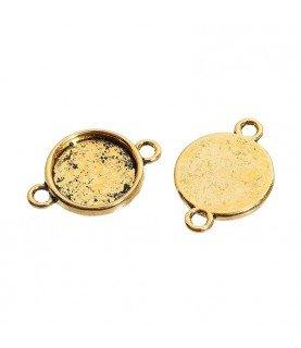 Comprar Conector base de camafeo 14 mm dorado de Conideade