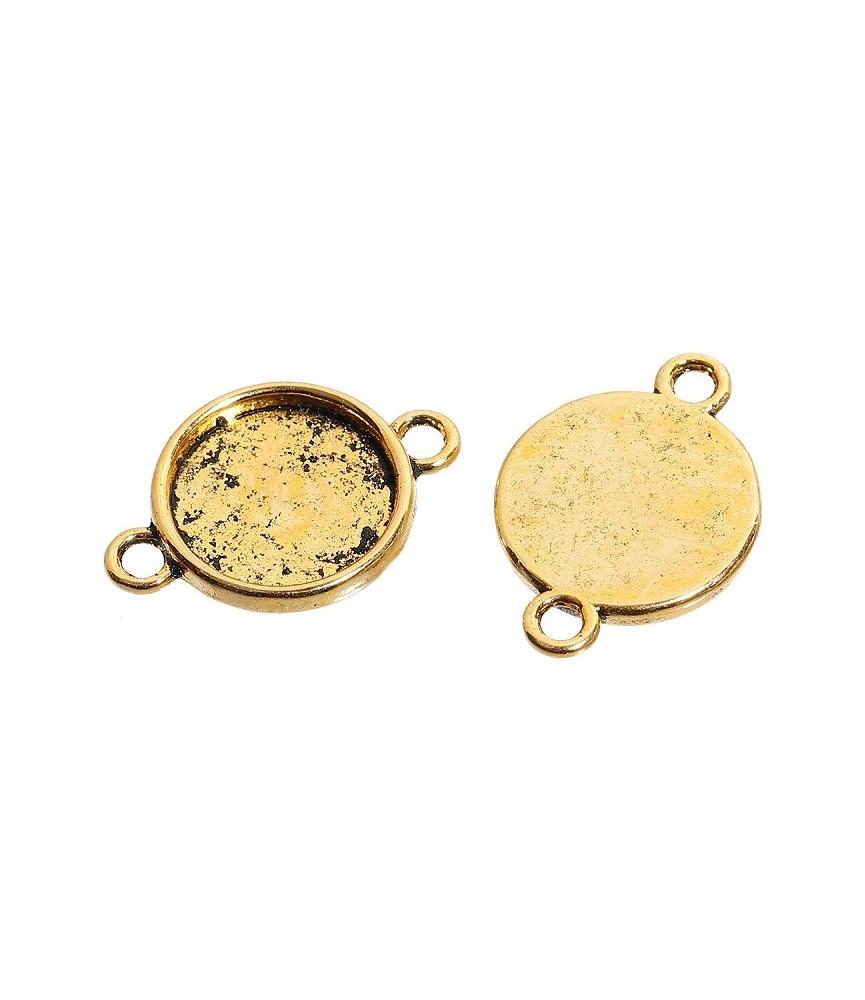 Conector base de camafeo 14 mm dorado