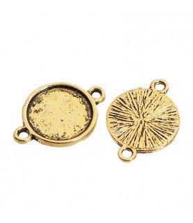 Comprar Conector base de camafeo 12 mm dorado de Conideade