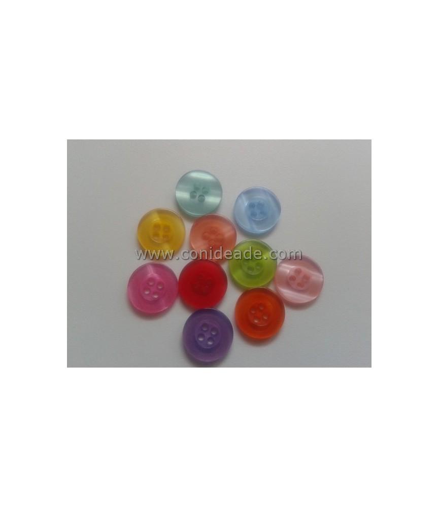 Pack 10 botonesredondos de 15 mm