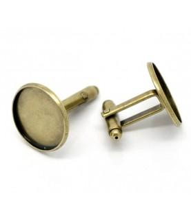 Comprar Par de gemelos para cabuchon de 18 mm bronce de Conideade