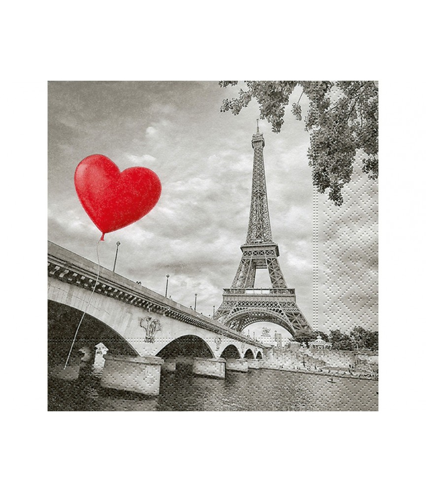 Servilleta City of Love 33x33 cm