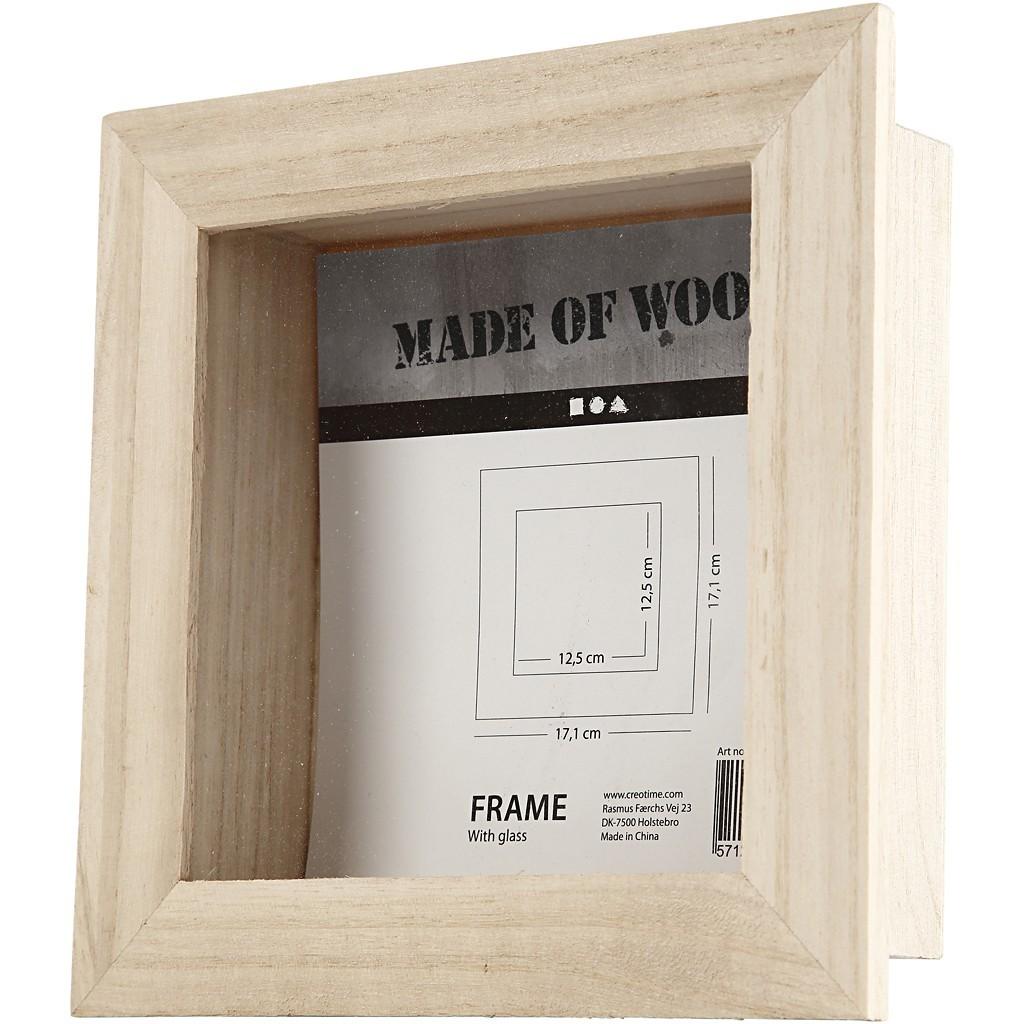 Marco 3D de 17 cm x 17 cm, ideal para decorar con pinturas y papeles