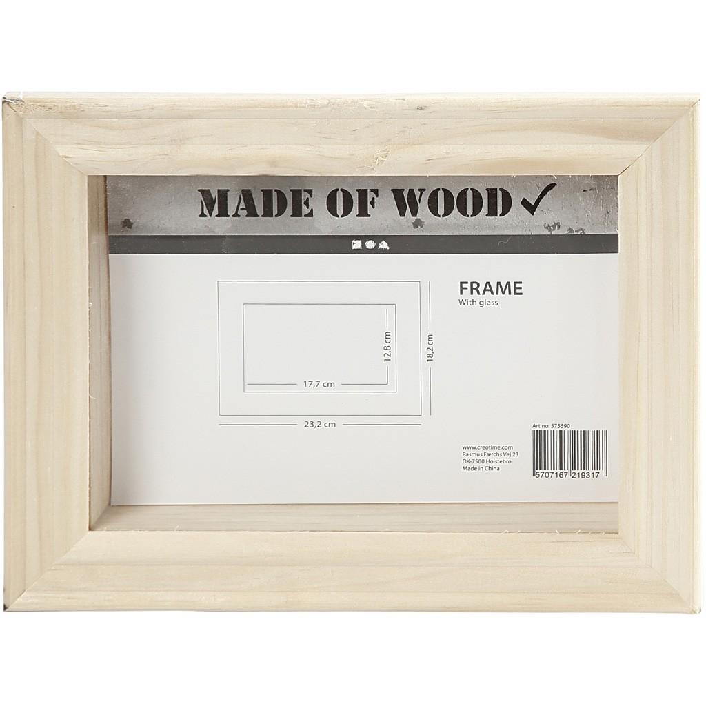 Caja marco 3D de 18 cm x 23 cm, para decorar con pinturas y papeles