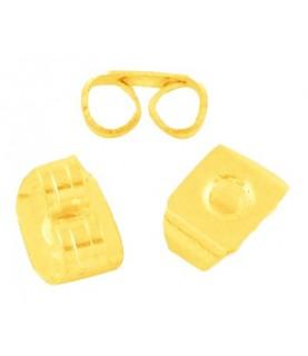 20 Tuercas para pendientes color dorado