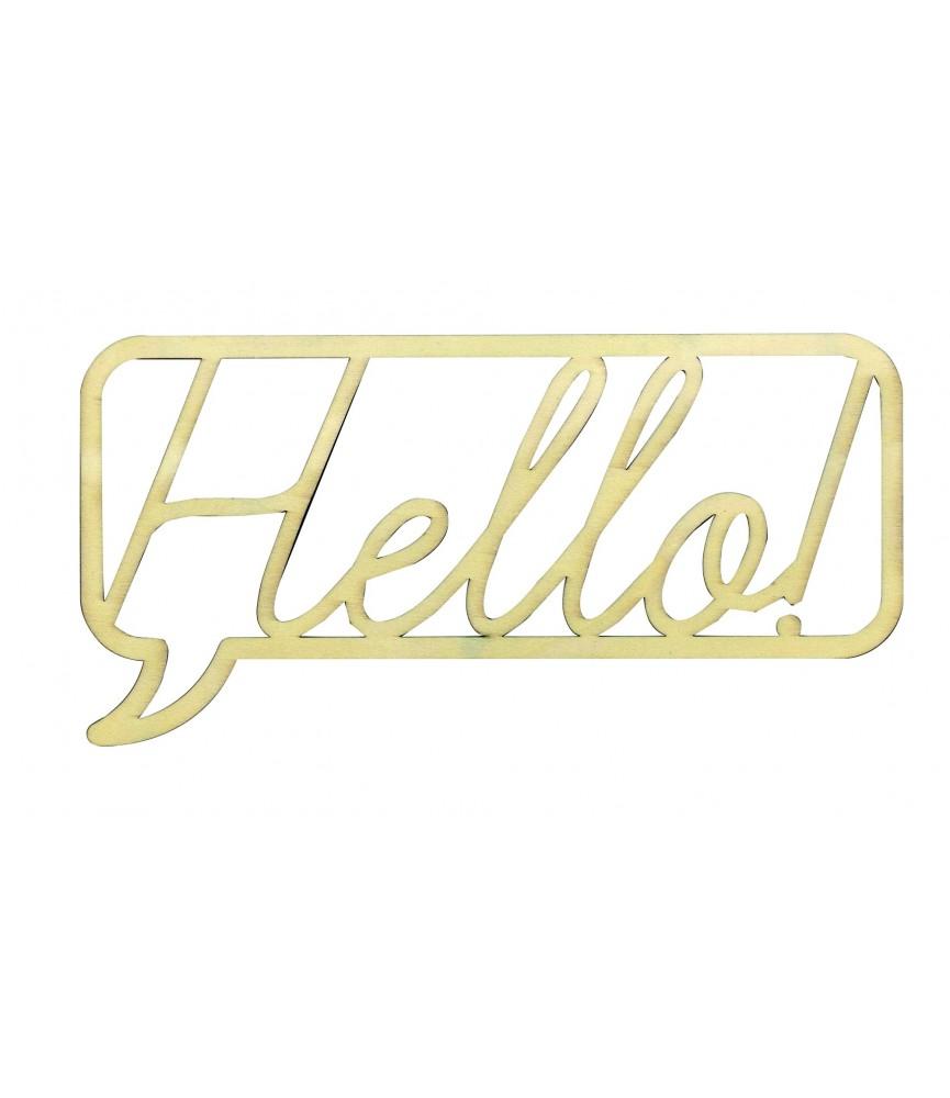 Palabra Hello en madera