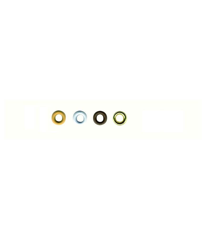 Pack 100 mini ojales colores neutros