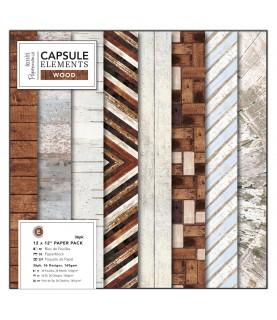 Comprar Pack 36 hojas papel scrap mod Wood 12x12 de Conideade
