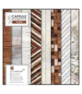 Comprar Pack 36 hojas papel scrap mod Wood 6x6 de Conideade