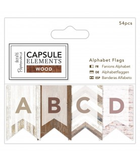 Pack banderines abecedario mod Wood