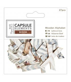 Pack Letras de madera modelo Wood