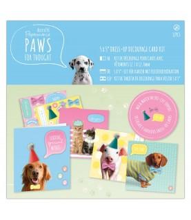 Comprar Kit para hacer 4 tarjetas modelo Paws de Conideade