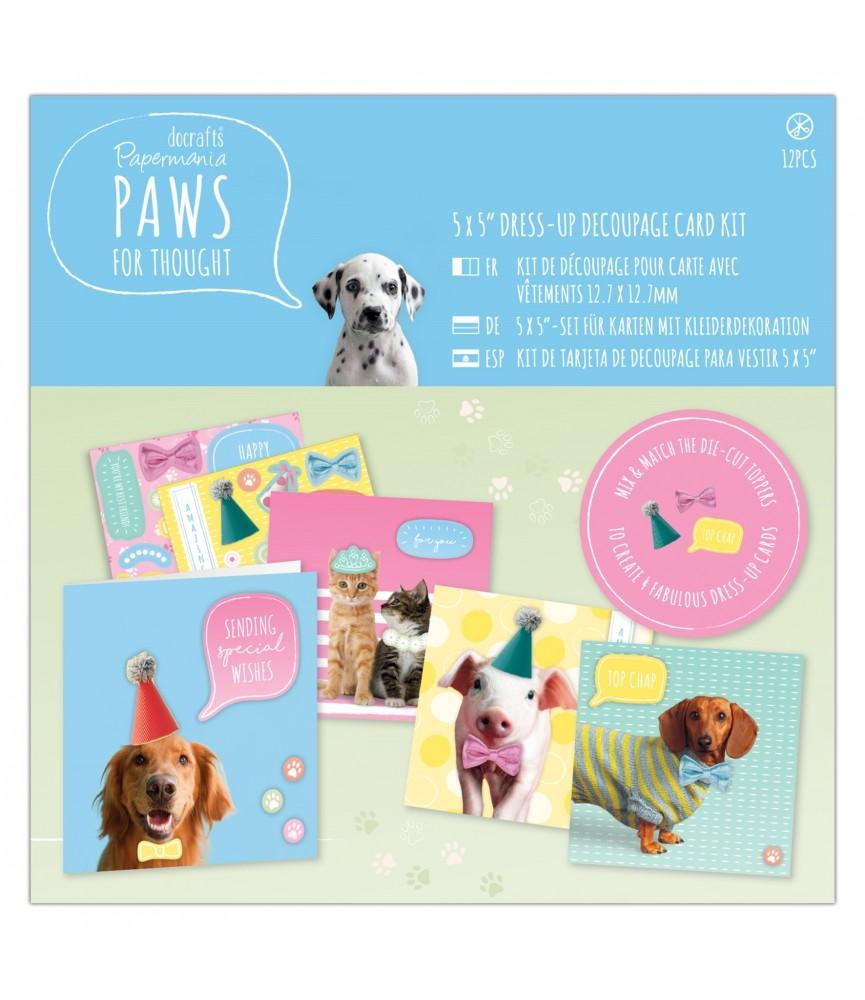 Kit para hacer 4 tarjetas modelo Paws