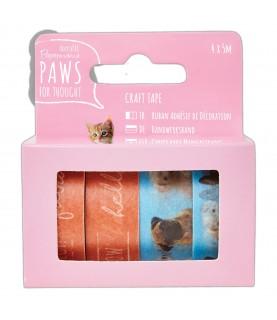 Comprar Pack 4 rollos de whasi tape modelos paws de Conideade