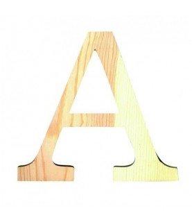 Letra A de madera medianas 11.50 cm