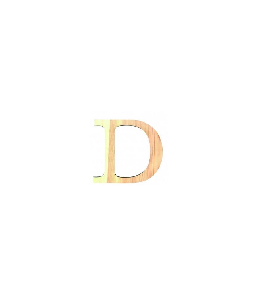 Letra D de madera medianas 11.50 cm