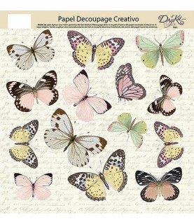 Papel decorativo para pegar mariposas G