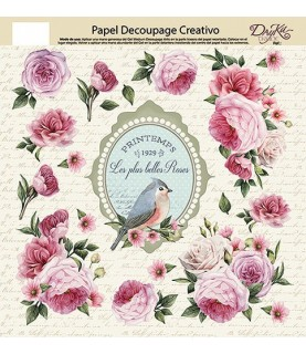 Imagén: Papel decorativo para pegar belles roses