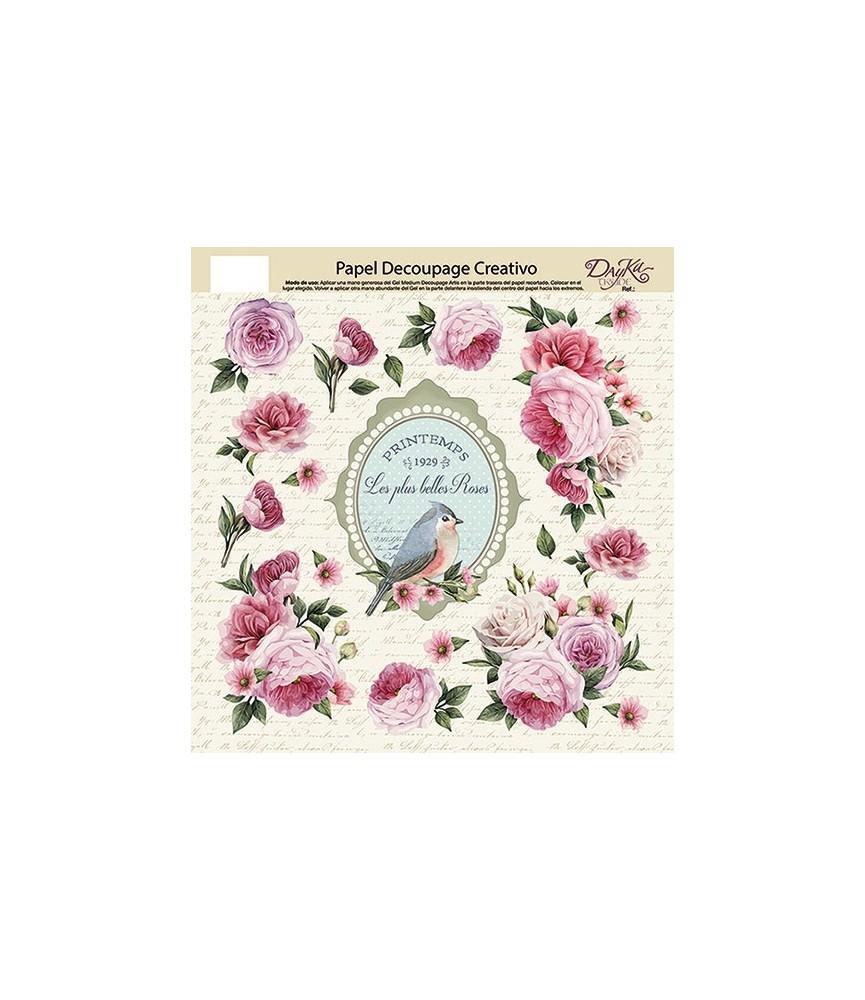 Papel decorativo para pegar belles roses para decorar - Papel decorativo para muebles ...