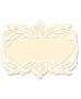 Silueta carton blanco filigrana etiqueta
