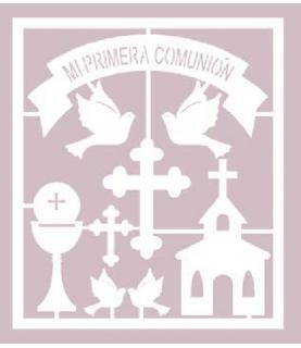 Silueta carton blanco set mi primera comunión