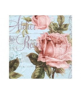 Servilleta atelier des roses 33x33 cm