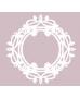Silueta carton blanco marco filigrana