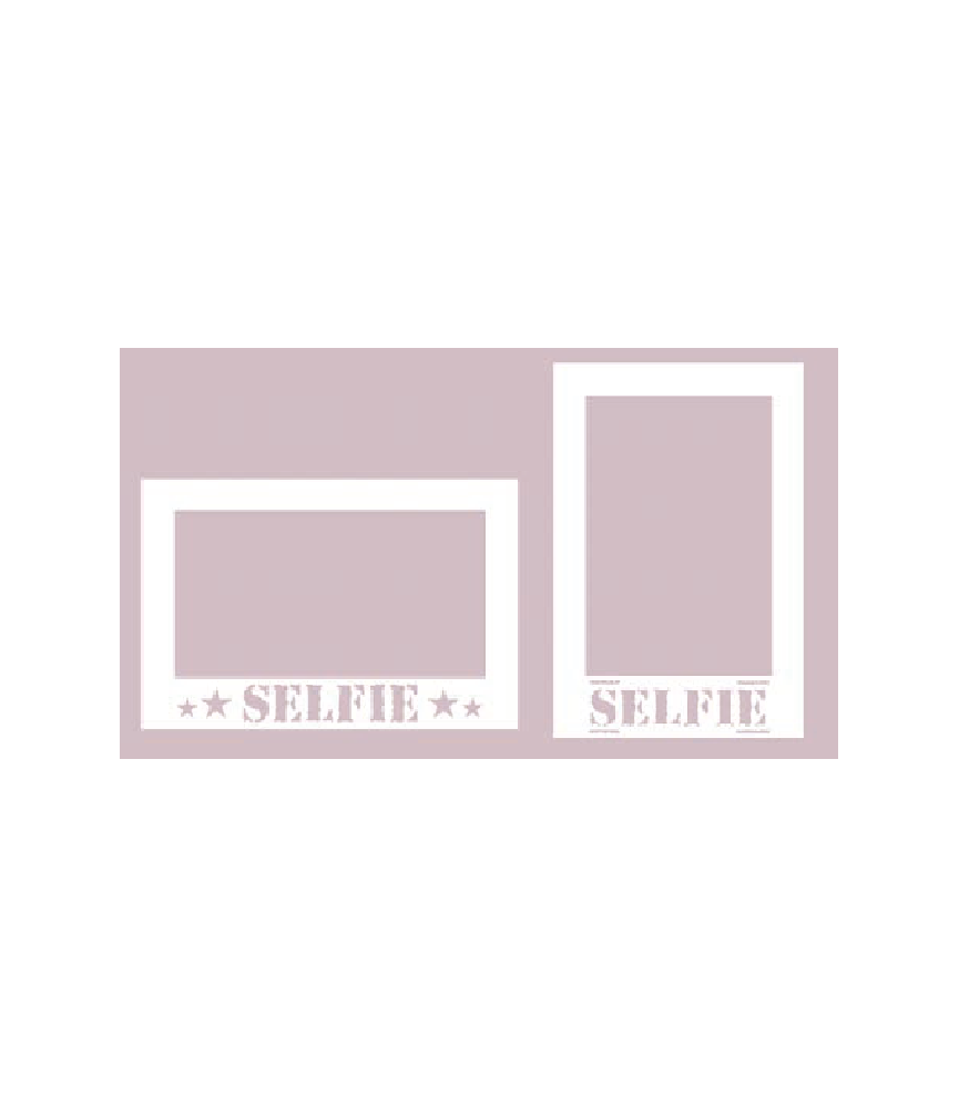 Silueta carton blanco 2 marcos selfie
