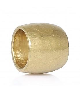 Cuenta entrepieza dorada 6 mm
