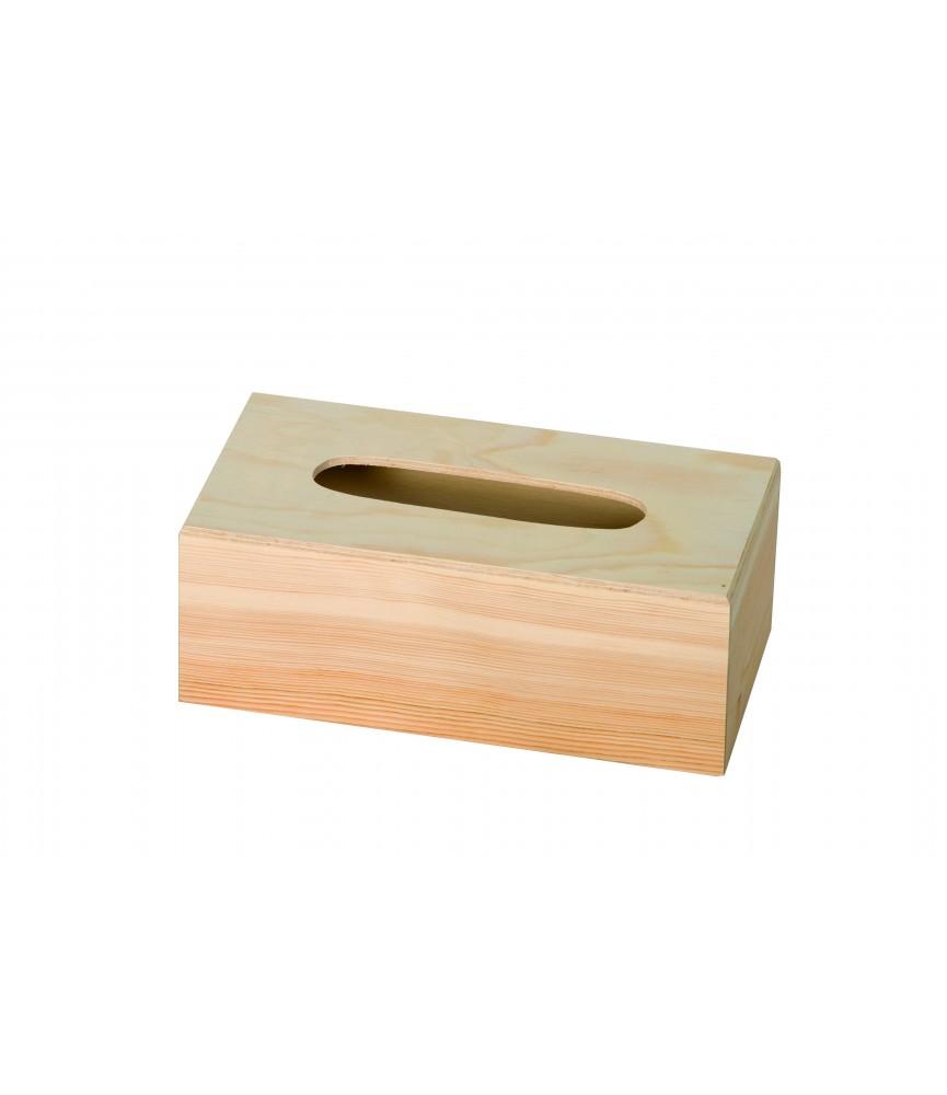 Caja de madera pañuelos