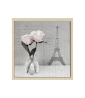 Servilleta vintage roses Paris 33 x 33cm