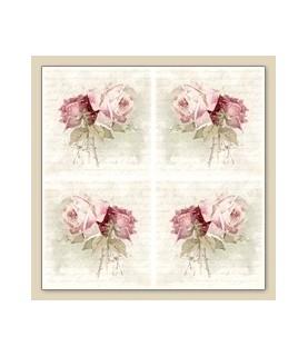 Servilleta vintage roses bouquet 33 x 33cm